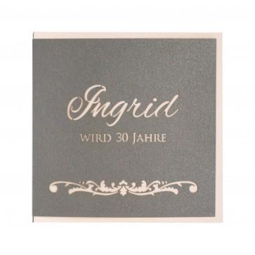 Einladungskarte zum 30. Geburtstag mit besonderem Effekt