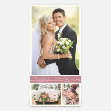 Danksagung mit ihren Hochzeitsfotos MO1000