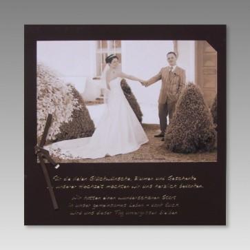 Dankeskarte für Hochzeitsfoto inkl. Dankestext