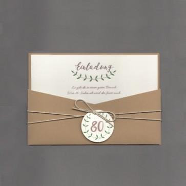 Auffällige Einladungskarte Geburtstag 80