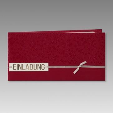 Einladung Konfirmation in elegantem Rot