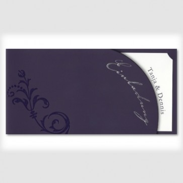 Hochzeitseinladung in lila