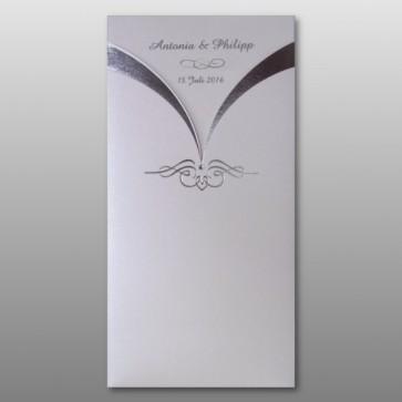 Edle Hochzeit Einladung in hochwertigen Materialien