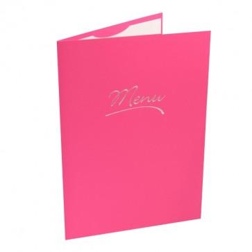 Große Menukarte in Pink