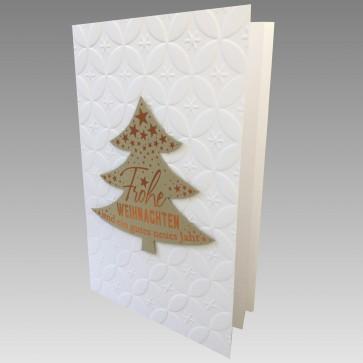 Seitenansicht Weihnachtskarte mit aufgeklebten Baum