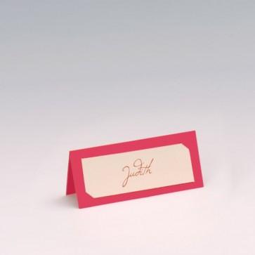 Pinke Tischkarte