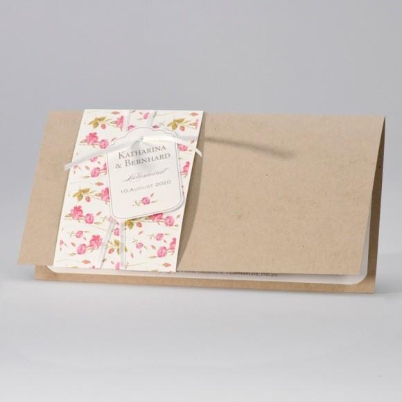 Moderne Hochzeit Einladung, Öko Karton