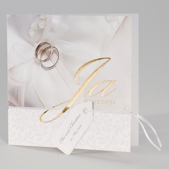 Gunstige Hochzeitskarte Mit Schriftzug Ja Wir Heiraten