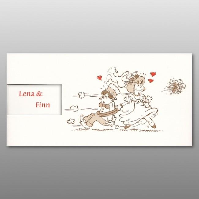 Lustige Comic Einladungskarte Zur Hochzeit