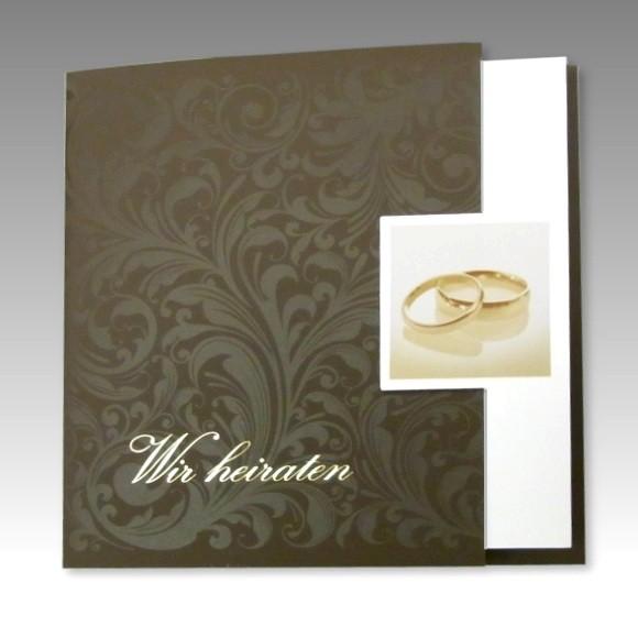 Einladungskarte hochzeit im klassischen stil for Klassischer stil