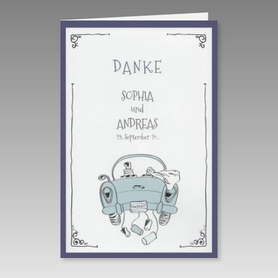 Lustige Danksagungskarte Hochzeit Mit Einem Comic Motiv