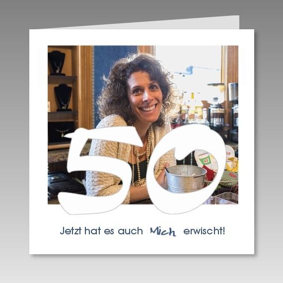 Einladungskarten 50 Geburtstag Gestalten: Individuelle Einladungskarte Zum 50. Mit Foto