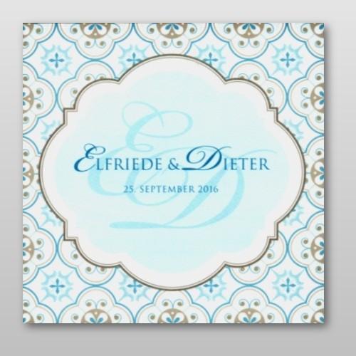 Hochzeitskarte Im Orientalischen Design