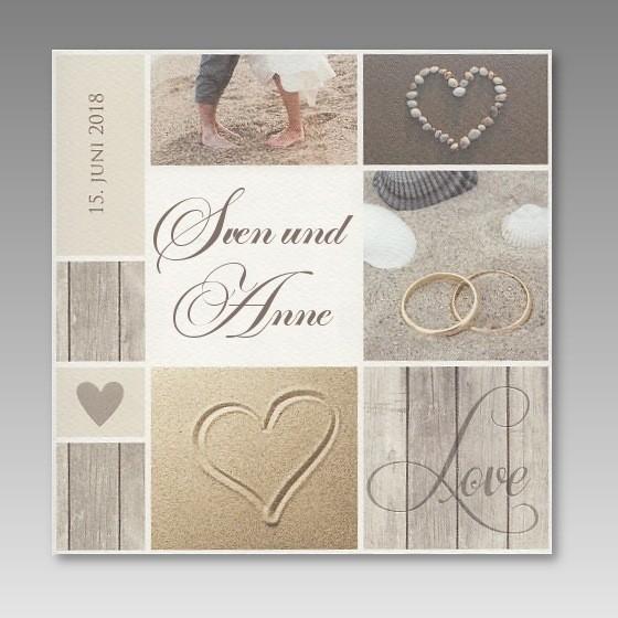 Vielfalltige Strand Einladungskarte Zur Hochzeit