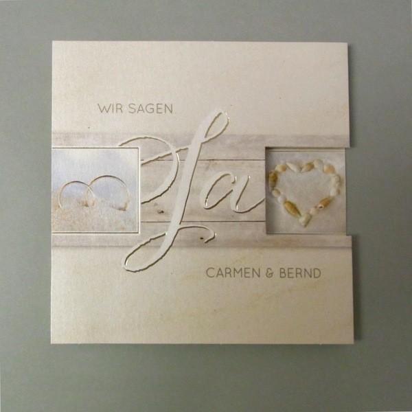 Hochzeitseinladung Im Schicken Strandesign