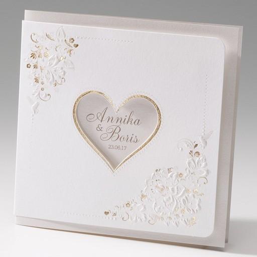 Romantische Hochzeitskarte Mit Ausgestanztem Herz