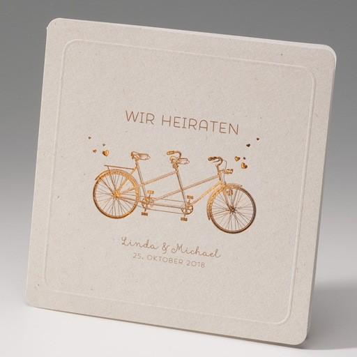 Hochzeitseinladung Mit Einem Tandem Fahrrad