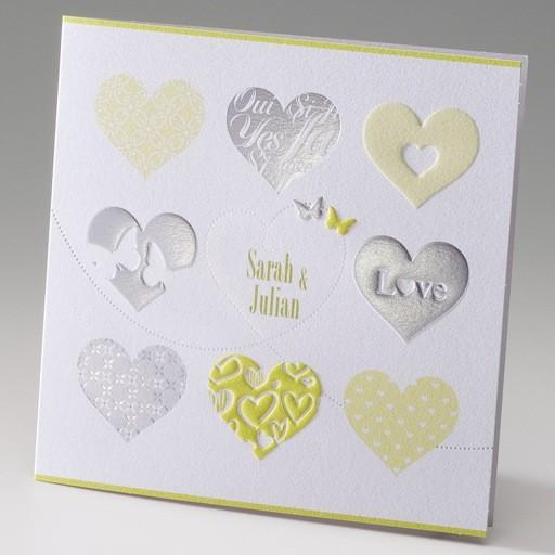 Einladung Zur Hochzeit Mit 9 Herzen
