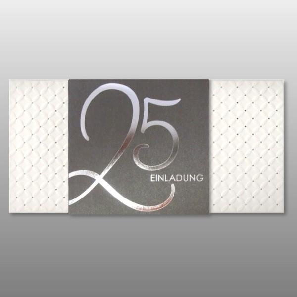 Einladungskarten Silberhochzeit Einladungskarten: Modern Und Elegant: Einladungskarte Zur Silbernen Hochzeit