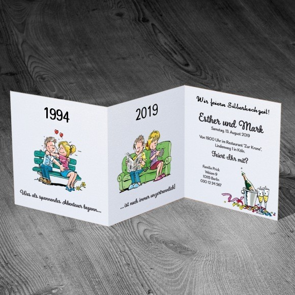 Hochzeit Lustiges: Lustige Einladungskarte Zu Ihrer Silberhochzeit
