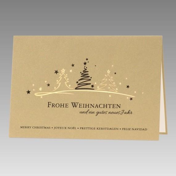 hochwertige firmen weihnachtskarte goldmetallic. Black Bedroom Furniture Sets. Home Design Ideas