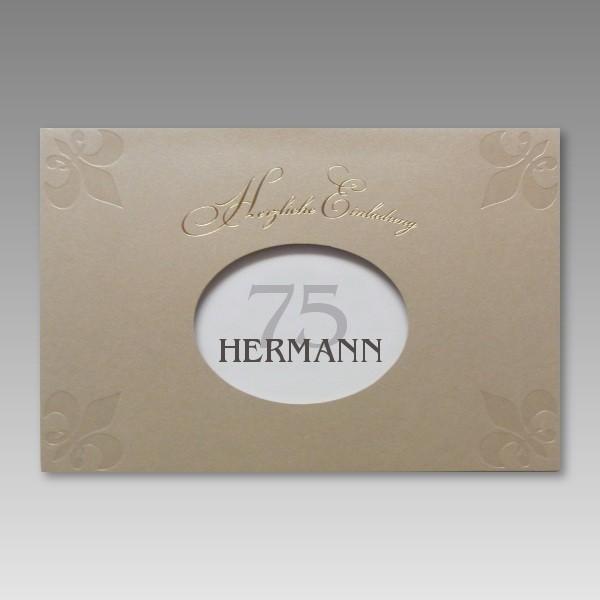 attraktive einladung zum 75 geburtstag mit g nstigen preis. Black Bedroom Furniture Sets. Home Design Ideas