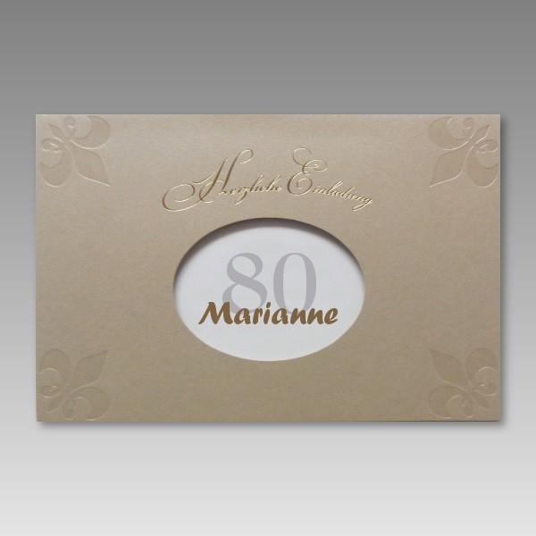 Attraktive Einladung Zum 80 Geburtstag Mit Gunstigen Preis