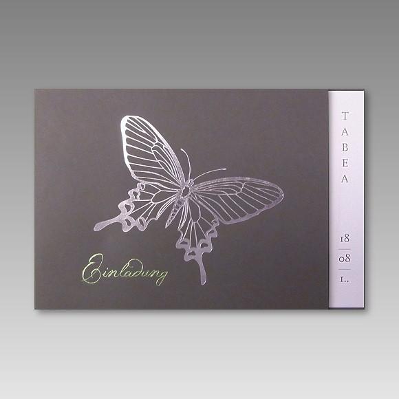 Günstige Einladungskarten Geburtstag: Günstige Einladungskarte Für Die Kommunion Mit Schmetterling