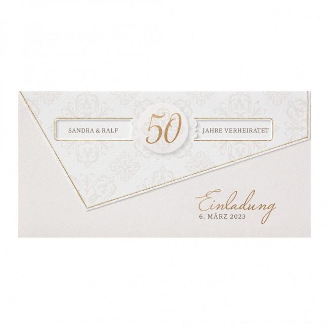 Edle Einladungskarte Zu Ihrer Goldenen Hochzeit