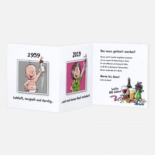 Tollekarten Comic Frau Wird 70 786114 70