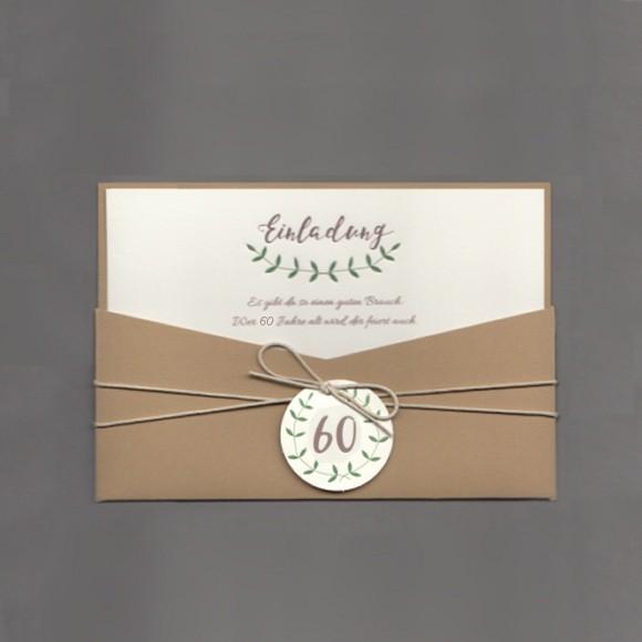 Einladungskarte 60 Geburtstag In Aussergewohnlichem Design