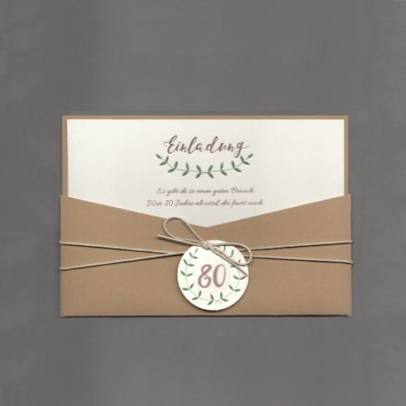 Einladungskarten 60 Geburtstag Basteln: Einladungskarte 80. Geburtstag In Außergewöhnlichem Design