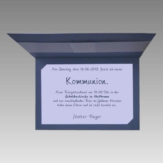 Kommunion Karte Schreiben.Für Jungen E3041 K