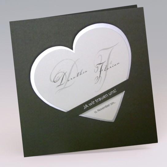 Elegante Hochzeitseinladungskarte Wir Trauen Uns