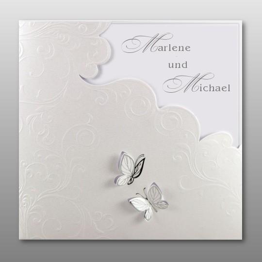 Hochzeitseinladung Mit Schmetterlingen