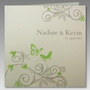 günstige Hochzeit Einladung mit Schmetterlingen