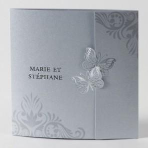 Schmetterlinge-Hochzeitseinladungskarte in eleganter Form