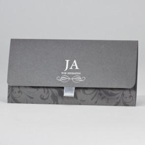 Hochzeit Einladungskarte aus edlem Metallic-Karton