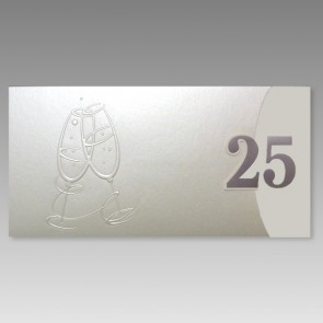 Exklusive Einladung zur Silberhochzeit mit einer 25