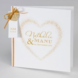 Romantische Hochzeitseinladungskarte mit Herzen