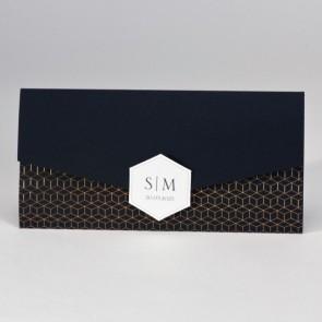 Einladungskarte zur Hochzeit, exklusiv in Schwarz