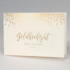 Goldhochzeit Einladung aus Bütten