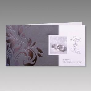 Edle Einladungskarte für Ihre Silberhochzeit