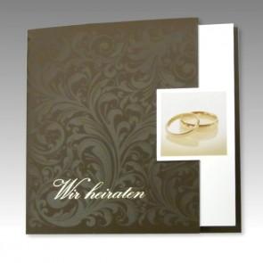 Einladungskarte Hochzeit im klassischen Stil 16342