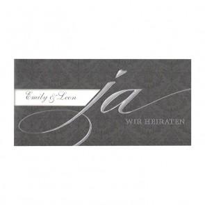 Hochwertige Einladungskarte mit Silberfoliendruck