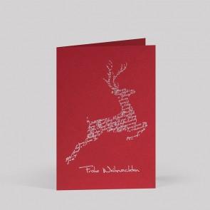 Rote Weihnachtskarte im eleganten Design - RT17017