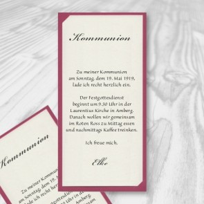 Einladung Kommunion im modernen Design