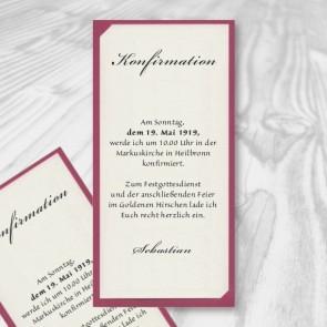 Einladung Konfirmation im modernen Design