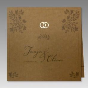 Einladungskarte Hochzeit in aktuellem Design