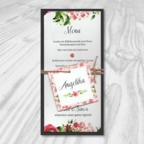 Menükarte für die Hochzeit inkl. Namenskarte